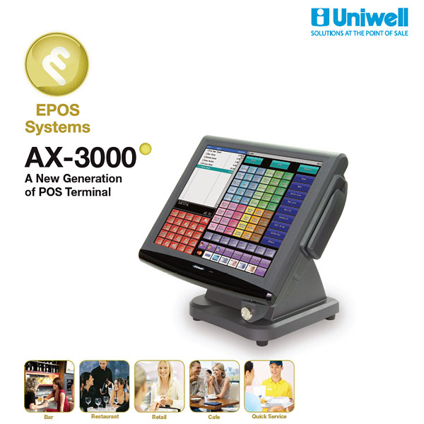 uniwell ax 3000 touch screen pos terminal uniwell pos australia rh uniwell net au Uniwell POS Uniwell Philippines
