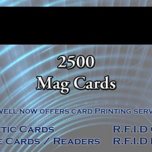 2500 magnetic cards