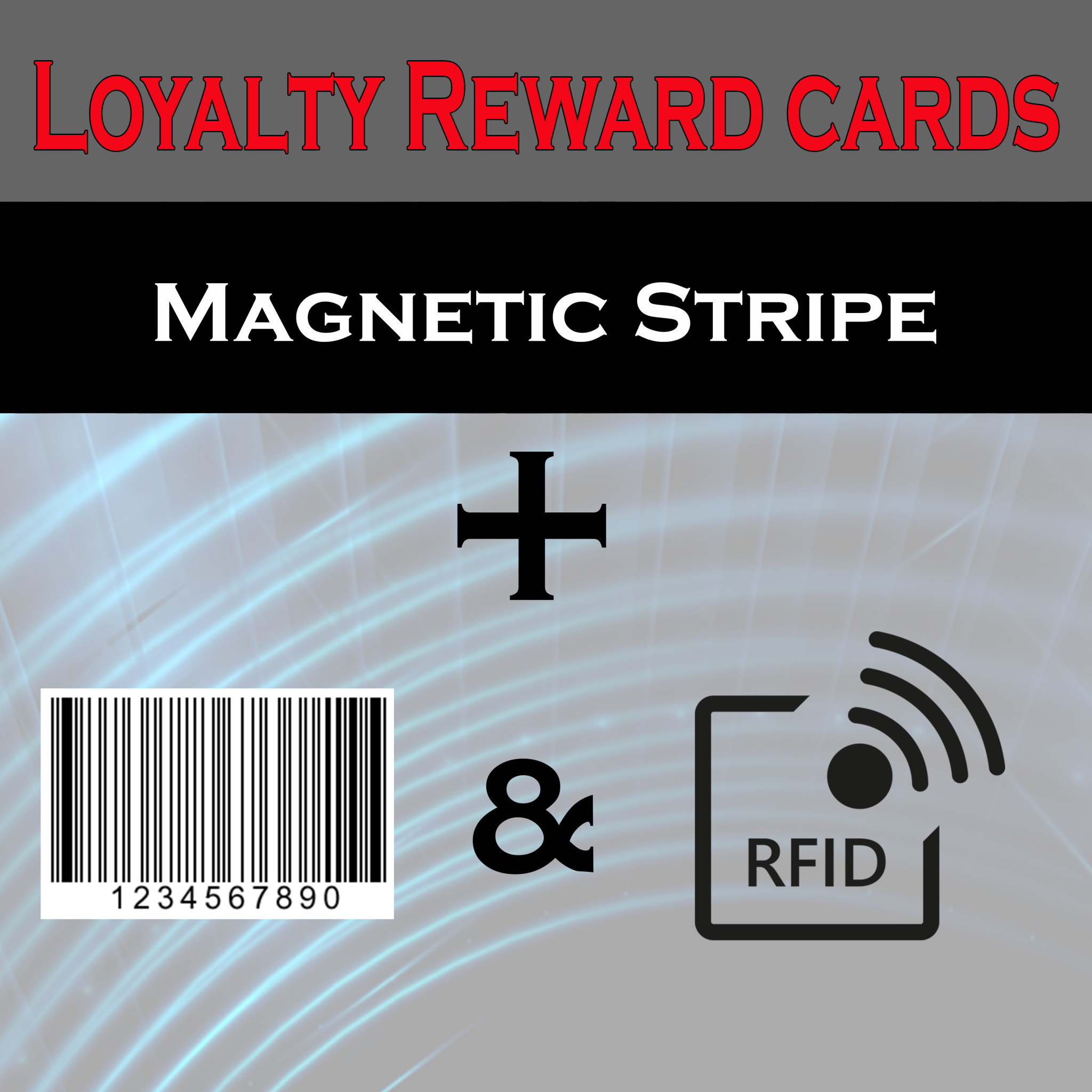 loyalty rfid magnetic barcode cards