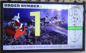 screenshot of our order number display