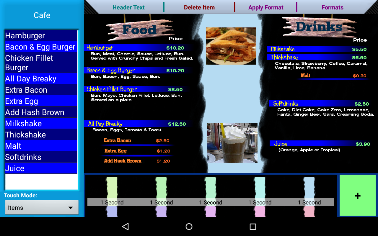 Programming utility for digital menu board